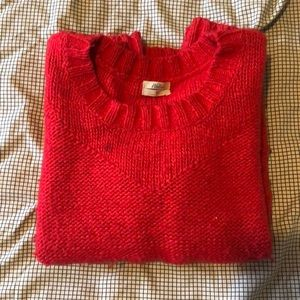 Red Knit Madewell Sweater